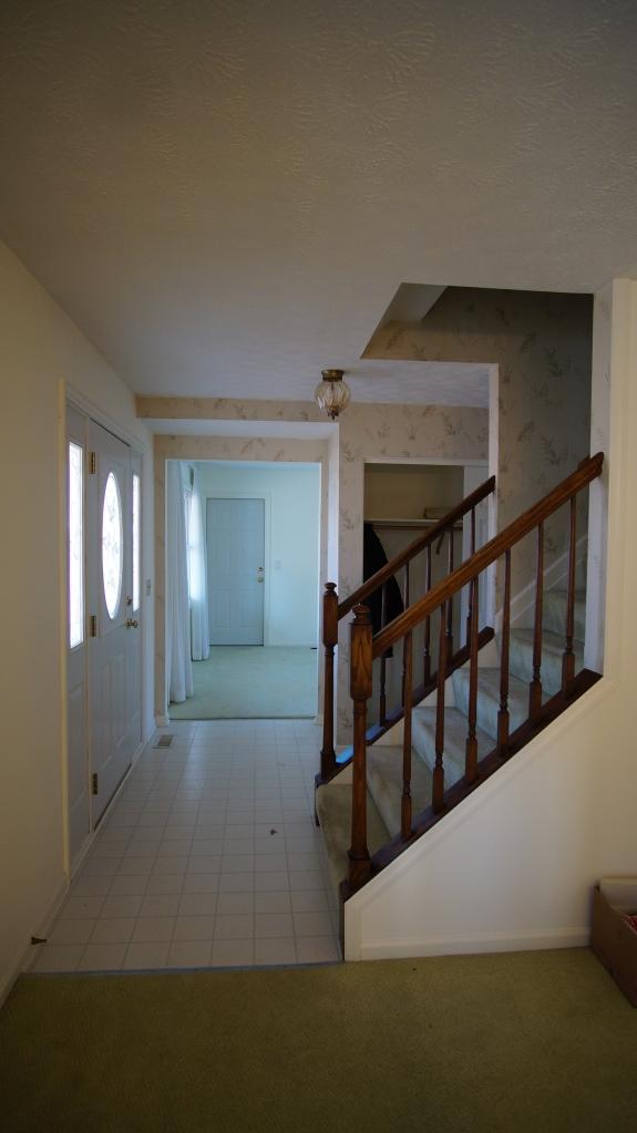 Foyer from the side, looking into the Family Room